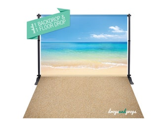 Perfect Summer Day & Sand – Photography Backdrop Combo