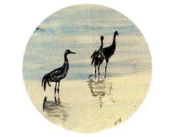 vinyl sticker, tile sticker, decal sticker, waterproof sticker, art sticker, bumper sticker, wall art, home decor, birds, Cranes, nature