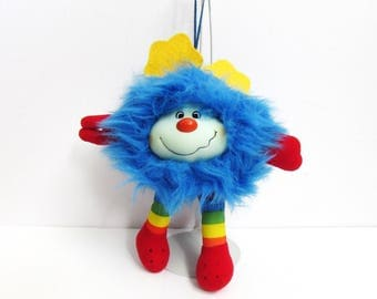 Rainbow Brite Hallmark 1983 Champ Blue Sprite Plush Doll