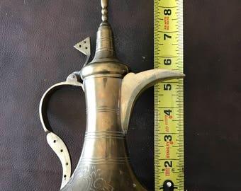 Antique Brass Islamic Coffee Pot