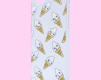 Googly Eye Ice Cream Cute Clear Phone Case For iPhone 6/6S