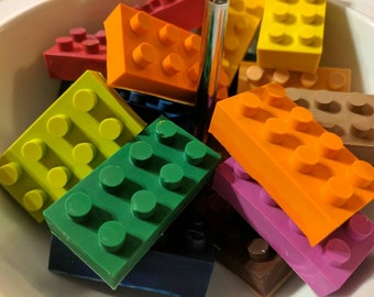 Lego gifts etsy crayola lego brick handmade crayons party favor lego birthday easter basket gift negle Choice Image