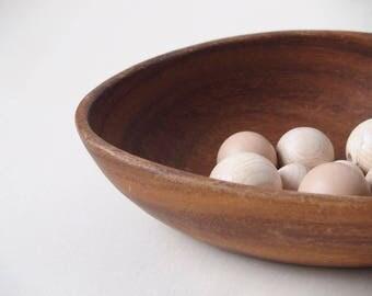 Vintage big teak bowl