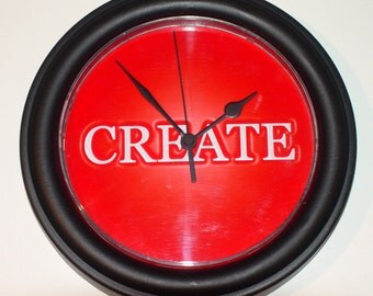CREATE    Inspirational wall clock