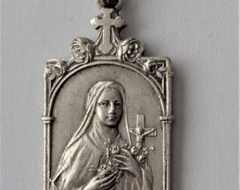 Antique Religious Medal St. Theresa