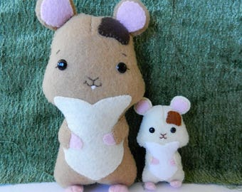 Felt Hamster Softie Plushie Doll Set by Noialand
