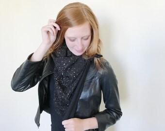 Black Gold Speckle Blanket Scarf