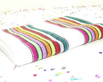 Tela mexicana, Quinceanera decor, Mexican serape material, Mexican wedding, Ethnic fabric by the yard, Fiesta birthday, Tribal fabric.
