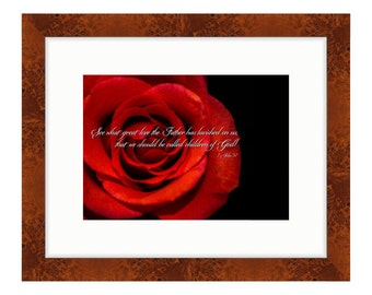 """What Great Love the Father has Lavished on Us, Inspirational Quote Bible Verse Art, """"1 John 3:1"""" Scripture Wall Art, Uplifting Spiritual"""