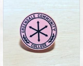 Community Inspired Greendale College Acrylic Pin Badge Brooch