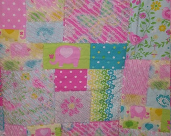 Baby Girl Chenille Quilt