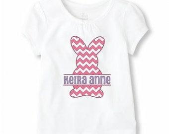 Monogram Easter Shirt, Monogram Easter Bunny Shirt, Kids Easter Shirt Iron On, Monogram Kids Easter Shirt, Kids Easter Shirt
