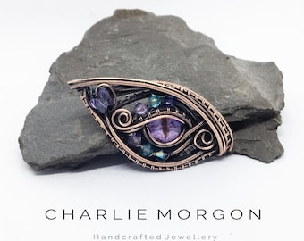 Violet Dragon Eye Necklace - Dragon Jewellery, Dragon Eye Pendant, Gothic Jewelry, Mothers Day Gift, Gifts For Her, necklace Eye, Eye Amulet