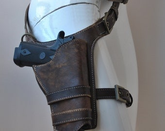Real leather leg holster