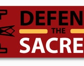 """1 """"Defend The Sacred"""" Bumper Sticker - Support Standing Rock"""