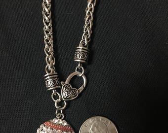 Baseball Bling Rhinestone Bracelet