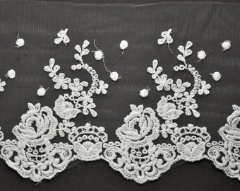 Embroidered Lace Trim, 4-1/2 Inch by 1 Yard, TR-11205