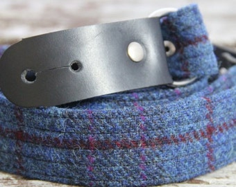 Harris Tweed guitar strap, guitar accessory, leather and Harris Tweed guitar strap, checks and tartans