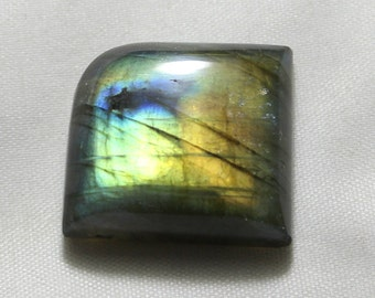 46 carat Natural Labradorite cabochon  Cabochon loose gemstone size 24 mm x 21 mm x 7 mm  approx 0097