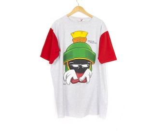 1993 marvin the martian shirt - vintage 90s - raglan - looney tunes - xl