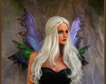 Adult Fairy Wings***Iridescent Purple/Green/Gold**FREE SHIPPING**Costume/Cosplay/Masquerade/Photography/Weddings/Renn Faires