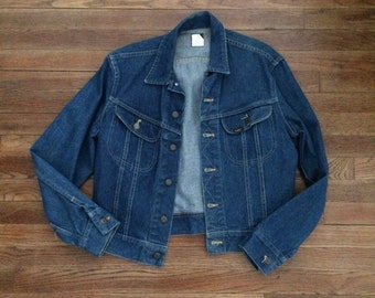 Sz Large Lee Vintage Jean Jacket Mens