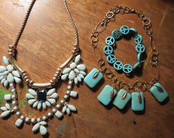 Turquoise vintage jewelry lot