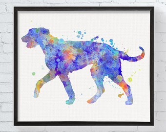 Irish Wolfhound Art, Irish Wolfhound Print, Watercolor Irish Wolfhound, Irish Wolfhound Painting, Watercolor Print, Dog Wall Decor, Dog Art