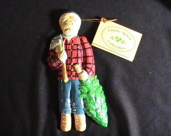 Vintage 1982 Charlee McGee Christmas Ornament, With Tag, Wall Hanging, Christmas Decoration