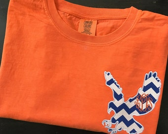 Comfort Colors Short Sleeve T-shirt with Auburn Eagle and Monogram