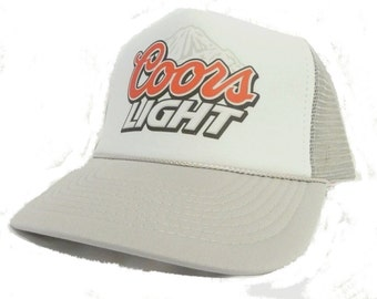Coors Light beer Trucker Hat Mesh Hat Snap Back Hat multiple hat color choices available