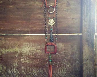 Upcycled Rhinestone Necklace, Bohemian Hippie Gypsy Cowgirl Festival Choker Necklace
