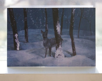 The Winter Doe 4x6 Card