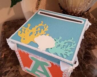 Under The Sea Pastel Money Card box / Gift Card Box