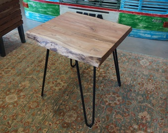Solid Acacia Wood End / Side Table