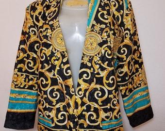 FREE  SHIPPING   Versace Style Blazer Jacket