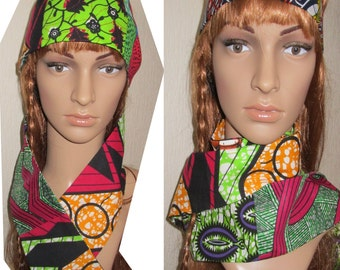 Accessory/patchwork wax african/scarf/colorful scarf//african Tie/women accessory ankara ,african fabrix,wax fabric,women gift