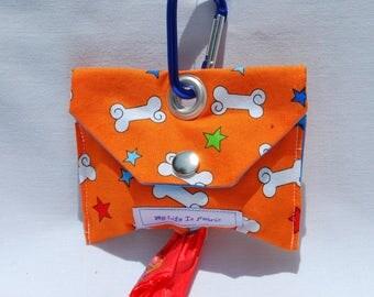 Dog Poop Bag Dispenser Dog Poo Bag Dog Mess Bag Waste Bag Dispenser Orange Bad To The Bone