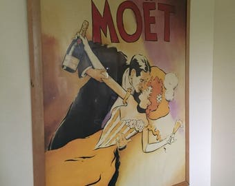 Oversized Vintage Moet and Chandon poster