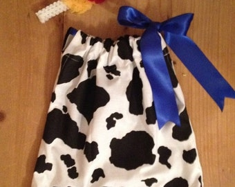Cowgirl Pillowcase Dress and Headband Set