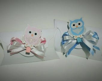 Favor box clip colored parcel-handmade-custom-all colors available