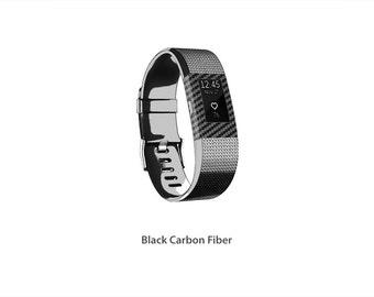 Fitbit Charge 2 wrap/decal/sticker/skin Carbon Fiber Stickerboy - Set 1