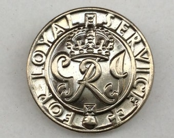 WW2 Kings Badge For Loyal Service - Issued to Wounded Servicemen Discharged From Active Service Due to Injuries