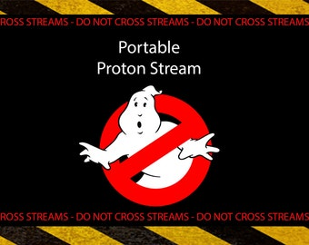 Ghostbusters Proton Silly String Label