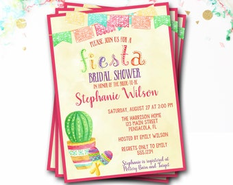 Fiesta Bridal Shower Invitation, Fiesta Invitation, Bridal Shower Invitation, Fiesta Bridal Shower, Fiesta Invite, DIY Printable