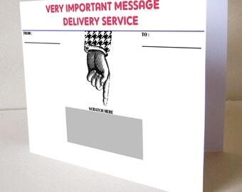 Scratch card customizable message