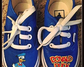 Custom painted Donald Duck/Disney Toms . Designed and personalized just for you!