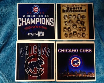 Chicago Cubs World Series Coasters (set of 4)