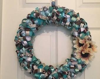 Looped ribbon wreath