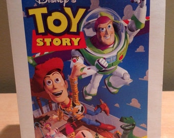 Vintage 1996 Woody From Disney's Toy Story McDonalds Happy Meal Toy. Walt Disney Masterpiece Collection Figurine with Accessory. In original